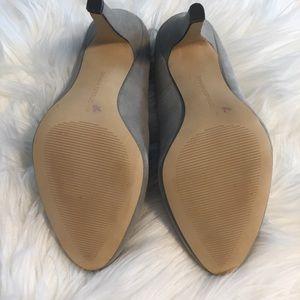 Banana Republic Shoes - NWOT Banana Republic Grey Suede Heels